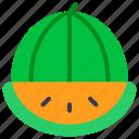 fruit, healthy, vegetarian, watermelon icon