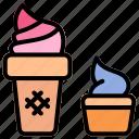 cream, frozen, gelato, ice, sundae icon