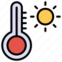 heat, temperature, thermometer, warmth icon