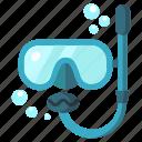 air bubble, dive, glass, mask, ocean, swim, water