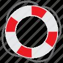 beach, circle, guard, holiday, life ring, safe, travel icon