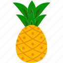 fresh, freshness, fruit, healthy, pineapple, sweet, tropical icon