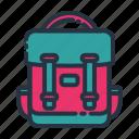 adventure, backpack, bag, summer, vacation