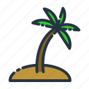 beach, coconut, holiday, summer, tree, vacation