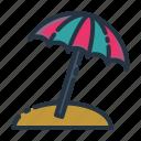 beach, holiday, summer, travel, umbrella, vacation