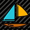 beach, boat, sea, ship, summer, travel, vacation