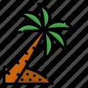 beach, coconut, garden, nature, plant, summer, tree