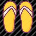slippers, sandal, shoe, beach