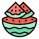 slice, summer, beach, fruit, watermelon, holiday, healthy