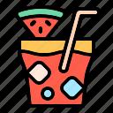 drink, watermelon, juice, beverage, beach, vacation, holiday