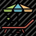 summer, beachchair, chair, chairbeach, travel, umbrella