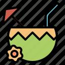summer, coconut, coconutdrink, fruit, juice