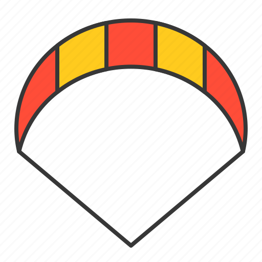 kite, kitesurfing, parachute, sports, vacation icon