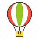 air balloon, balloon, hot air balloon, transport, transportation, vacation icon