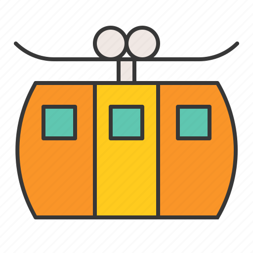 cable, cable car, transportation, vacation icon