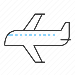air transport, air travel, plane, vacation icon