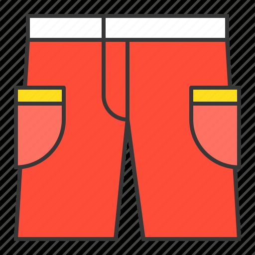 red shorts, shorts, vacation icon
