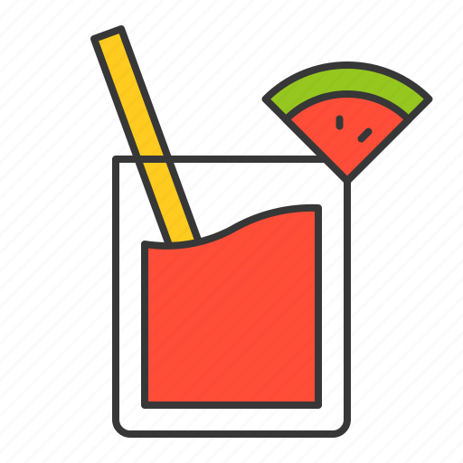 juice, vacation, watermelon, watermelon juice icon