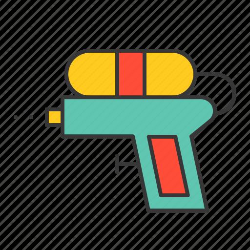 gun, toy, vacation, watergun icon