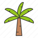 coconut tree, summer, tree, vacation icon