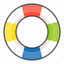 life ring, swim, swim ring, vacation icon