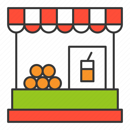 market, stall, store, vacation icon