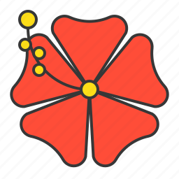 flora, floral, flower, vacation icon