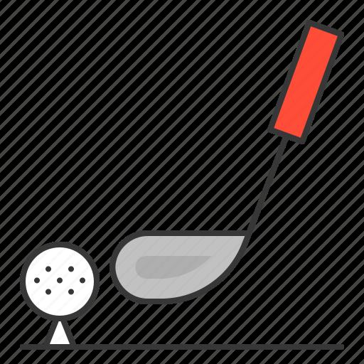 golf, golf ball, golf club, sport, vacation icon