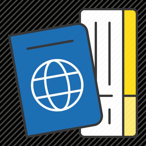 card, identification, passport, travel, vacation icon
