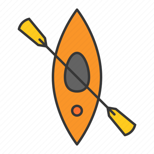 boat, kayak, sports, vacation icon