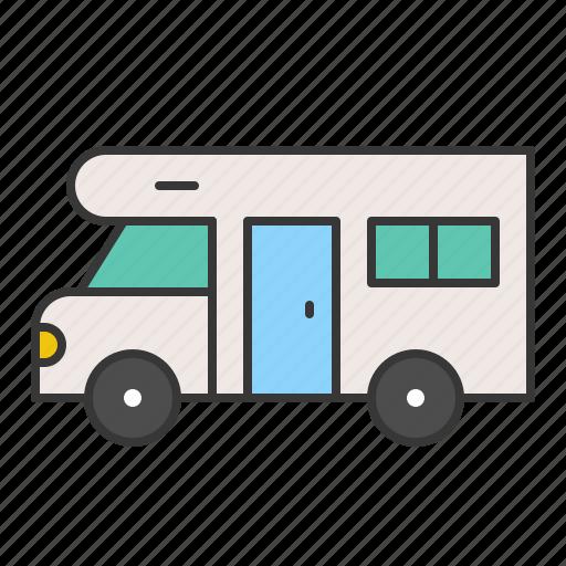 camping, camping car, car, vacation icon