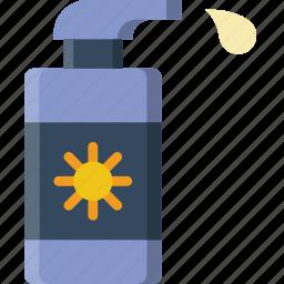 holiday, lotion, summer, sun, vacation icon