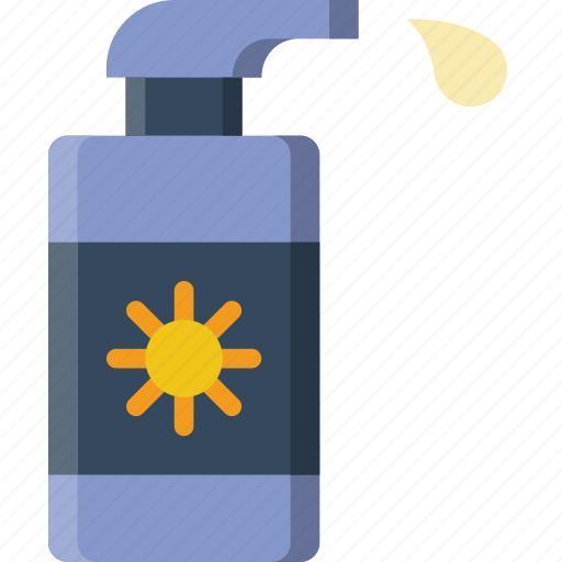 holiday, lotion, summer, sun, vacation icon