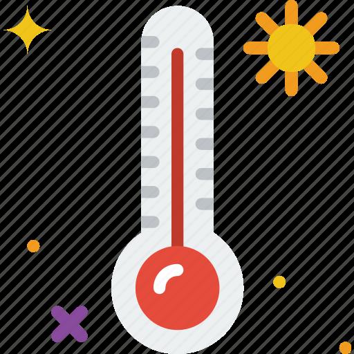 high, holiday, summer, temperature, vacation icon