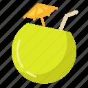 coconut, tropical, drink, fresh