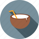 beach, cocktail, coconut, coconut water, drink, healthy, juice icon