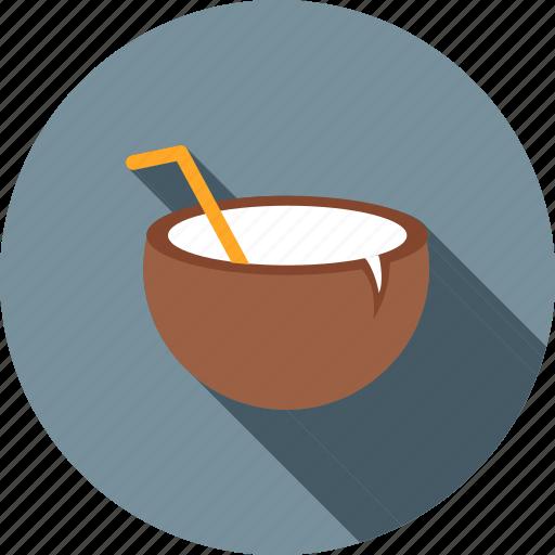 beach, cocktail, coconut, coconut water, drink, healthy, juice icon