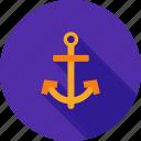 anchor, boating, hold, marine, ocean, ship, steady