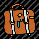 luggage, suitcase, summer, travel icon