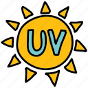 cream, protect, sign, summer, sun, sunscreen, uv icon