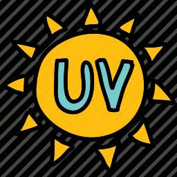 cream, protect, sign, summer, sun, sunscreen, uv icon