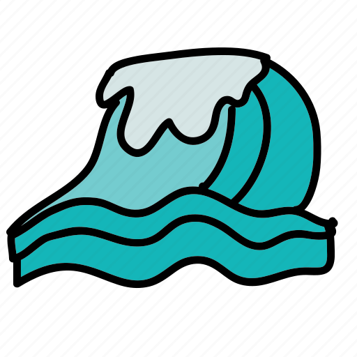 beach, ocean, sea, summer, waves icon