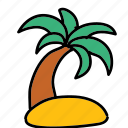 island, palm, summer, tree icon