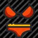bikini, beach, summertime, clothing, fashion, women