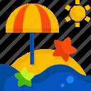 beach, sea, summern, trip, sun, ocean, sunset