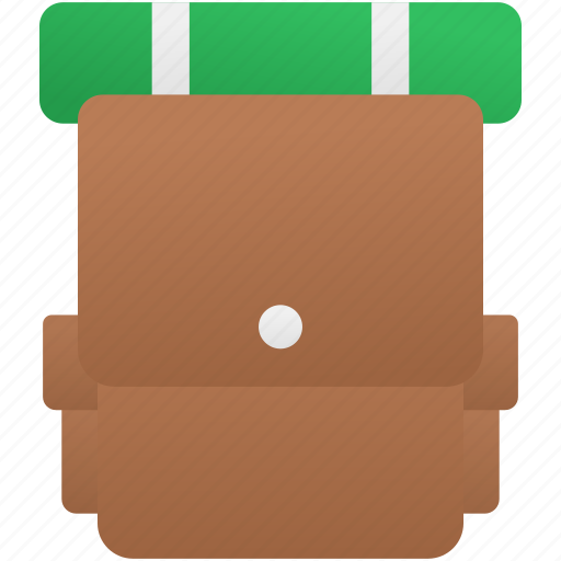 backpack, holiday, summer, travel icon