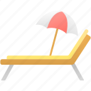 beach, chair, holiday, summer icon