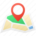 holiday, map, navigation, summer icon