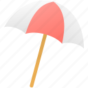 beach, holiday, summer, umbrella icon