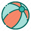 beach, beach ball, holiday, summer, toys, vacation, volleyball icon